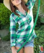 Ashley Doll Plaid Green