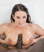 Angela white gets to grips with some big black cock and she takes it deep inside her