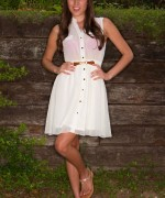 Brittany Marie White Dress Fun