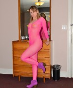 Callista Model Pink Bodystocking
