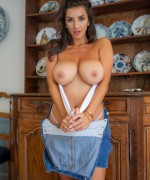Cosmid Cara Boyle topless as this stunning brunette babe shows off her huge natural boobs on cosmid click for her topless videos