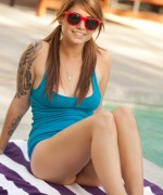 Hailey Leigh Lying By The Pool