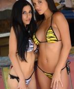 Janessa Brazil hot zebra bikinis