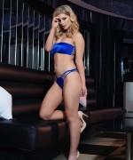 Jess Davies Blue Lingerie