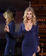 Jess Davies Blue Slit Dress