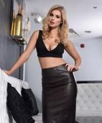 Jess Davies Leather Dress