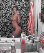 Kari Sweets Naked In Mirror