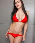 Katie Banks Red Bikini