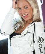 Kendra Rain white hoodie