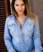 Lacey Banghard Blue Shirt