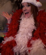 Lucy Ohara Christmas boa