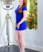 Lucy Ohara Tight Blue Dress