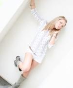 Madden teasing in her little white shorts