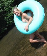 Meet Madden Topless River teasing as she goes out on her doughnut