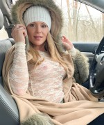 Meet Madden Big Nipples as she goes out in the cold winter with no bra on showsing off her massive hard nipples
