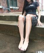 Misty Gates gets her feet wet