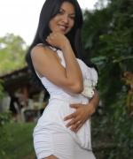 Natalia Spice white dress sex