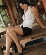 Natalia Spice black shorts