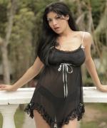 Natalia Spice black lingerie