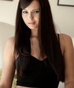 Natasha Belle sexy black outfit