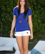 Natasha Belle blue cat shirt