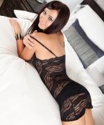 Natasha Belle black lingerie