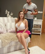 NFBusty Josephine Jackson gets blind folded and gets played with before she gets fucked by a big cockas spunk drips out of her pussy.