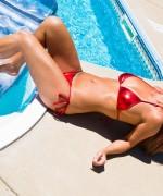 Nikki Sims Red Bikini
