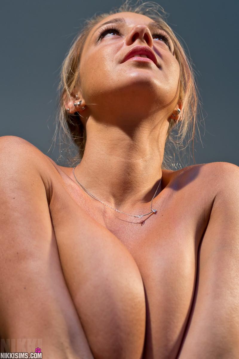 Cristin Nude In Pool Stripes