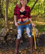 Nikki Sims Lumberjack
