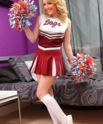 Only Tease Hannah cheerleader strip