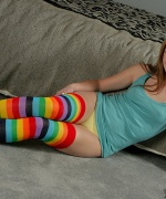 Private School Jewel rainbow socks