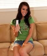 Talia Shepard Wii remote naked tease