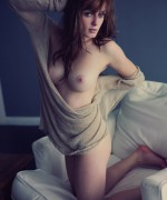 Ellie Jane Nude Teen as she bares her naked body on the sofa