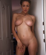 Sabrina Bunny Nude busty babe  shows off her massive natural boobs and peachy ass while totally nude