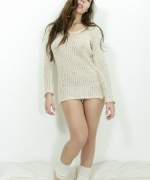 Victoria Moune sexy sweater