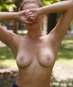Ellen Kennedy tease her bigboobs in the park as she flashes her boobs