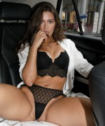 Zishy Shyla Volbeck teases in a virgin white summer dress as her Phat ass gives it such amazing curves before she spreads her legs back in the car