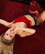 Zoey Ryder Red LIngerie
